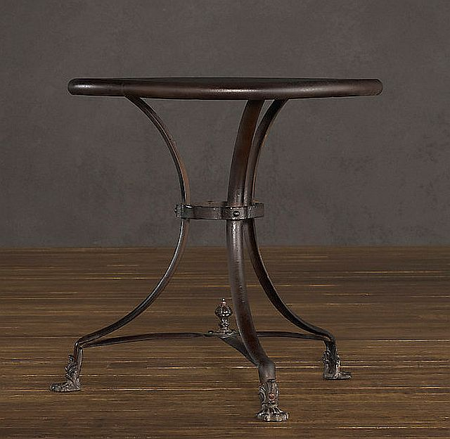 iron end table
