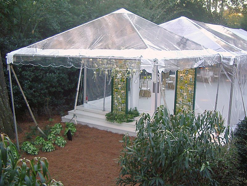 Spring Wedding Clear Top Speciality Tent