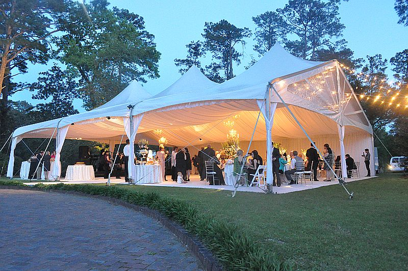 Spring Wedding with Gabled Tent