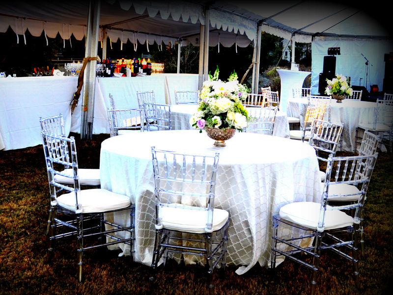 Event rentals in mobile al and the greater gulf coast party rental rabbit creek wedding reception table setting junglespirit Gallery