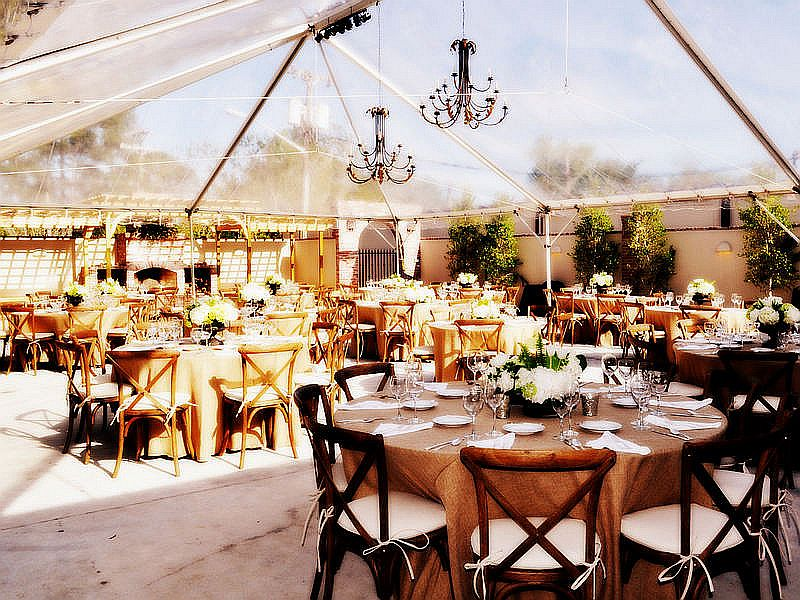 ... Wedding Dinner with Friends under the stars with Blue Rents clear top tent. : cost of wedding tent - memphite.com