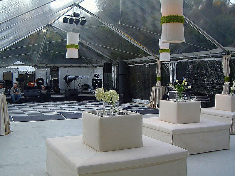 Elegant lounge seating for guest to have center stage view.