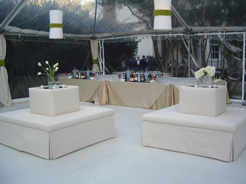 Simple seating to help guest enjoy all the festivities.