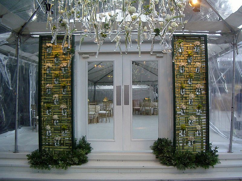 Summer Wedding Clear Tent & French door feature