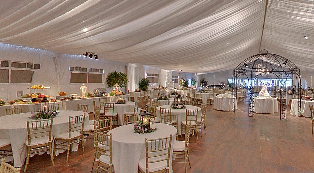 Summer Wedding Enclosed Structured Tent