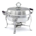 Rental store for CHAFER 6QT ROUND STAINLESS WOOD HANDLES in Mobile AL