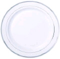 Rental store for SILVER TRIM 10  DINNER PLATE  20 RACK in Mobile AL