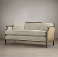 Rental store for SOFA IVORY W  BURLAP FRENCH VINTAGE 5 in Mobile AL