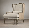 Rental store for CHAIR WING BACK IVORY WITH BURLAP in Mobile AL