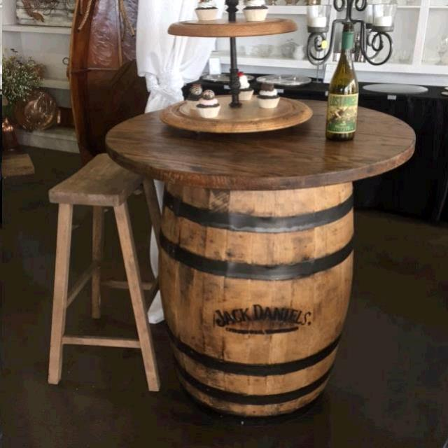Where to find 48  RUSTIC OAK WOOD ROUND TOP FOR BARREL in Mobile