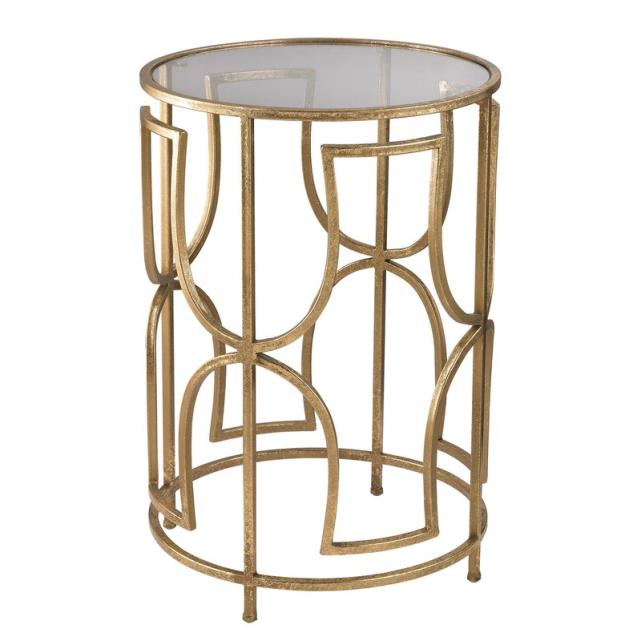 Where to find END TABLE GOLD 14  ROUND VICTORINE in Mobile