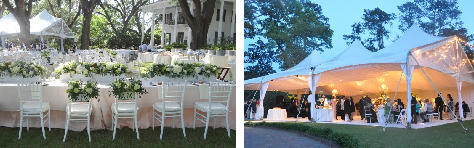 Event rentals in Mobile Alabama, Prichard, Daphne, Saraland, Tillmans Corner, and the Greater Gulf Coast